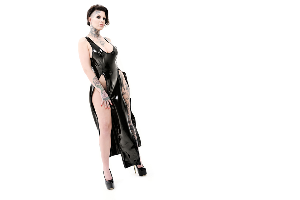 Latex long dress