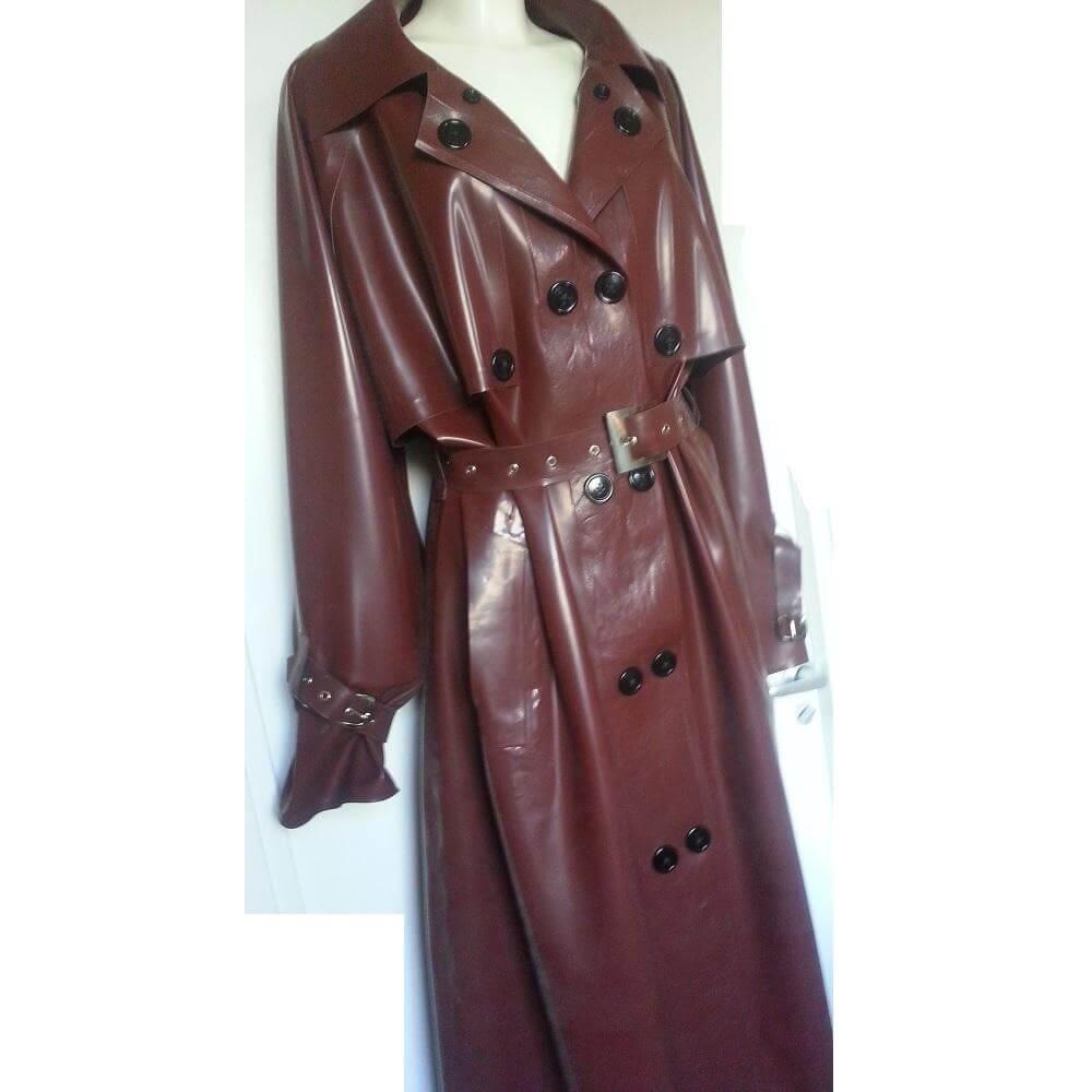 latex raincoat