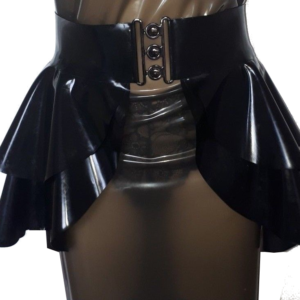 latex rubber peplum skirt