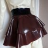 latex peplum skirt