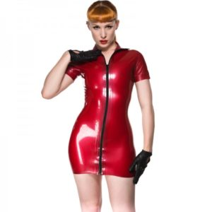 latex rubber dress