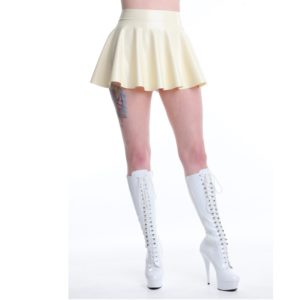latex skater skirt