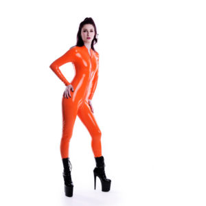 latex catsuit