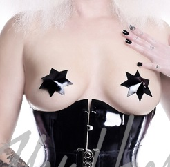 latex star pasties