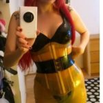 latex transparent corset