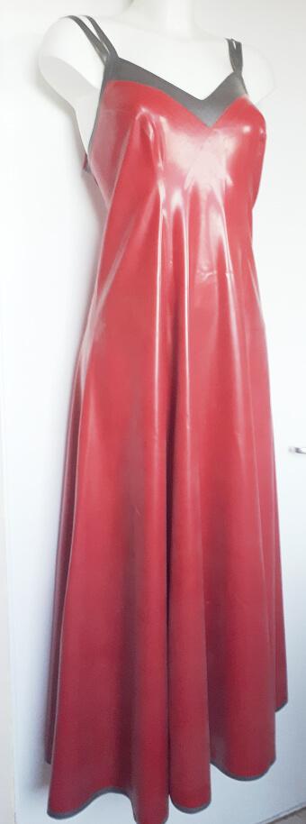 latex long dress
