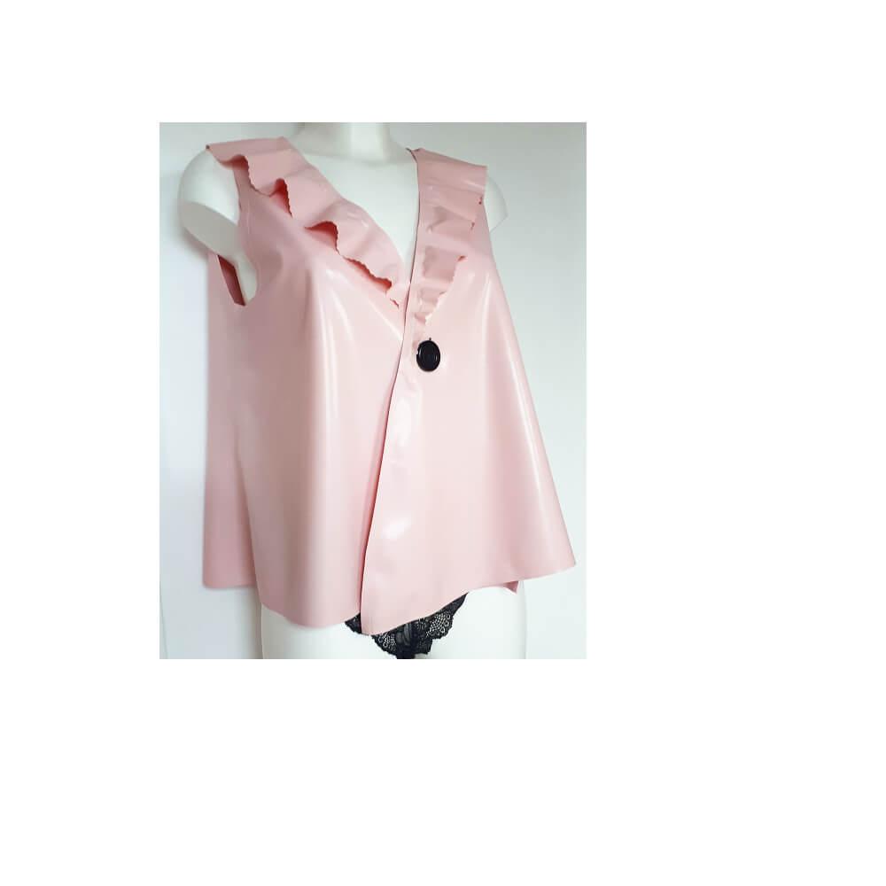 latex pink top