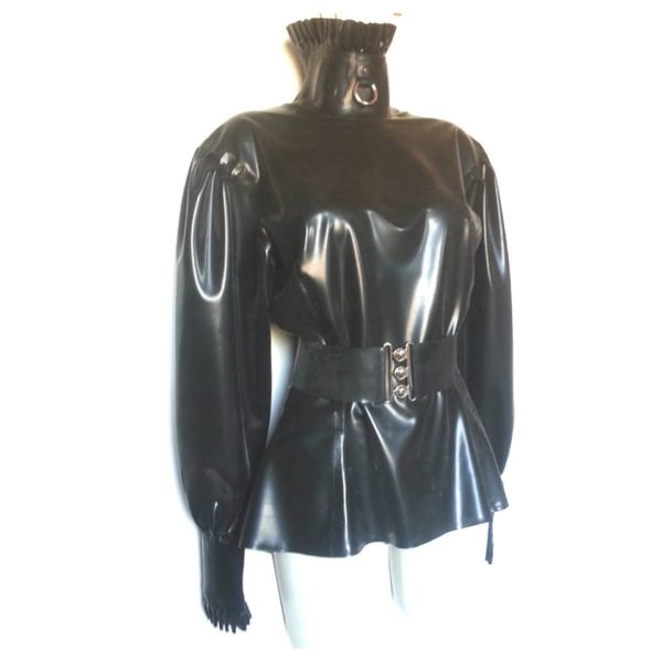 latex rubber blouse