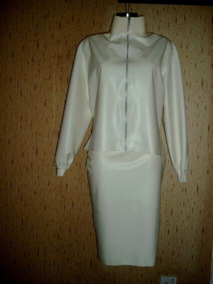 Latex white suit