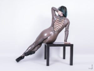 latex rubber catsuit