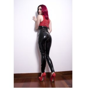 latex rubber leggings