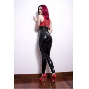 latex rubber leggings