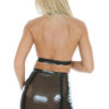 latex garter mini skirt