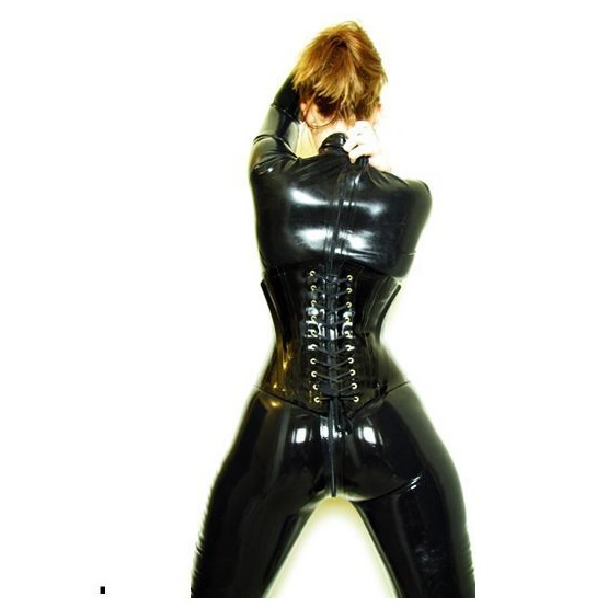 Latex rubber corset