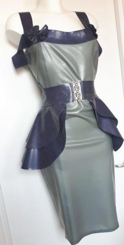 latex off shoulder dress