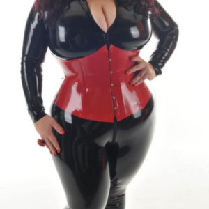 latex red corset