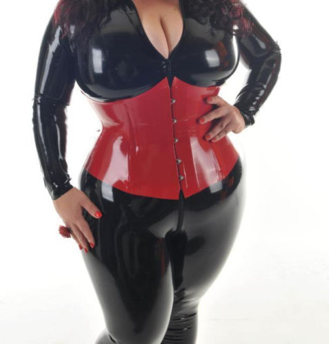latex red corset