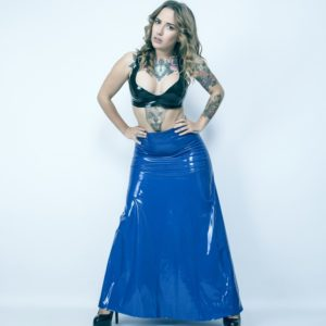 Latex rubber long skirt