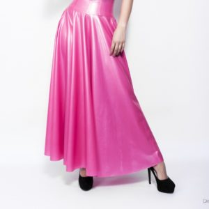 Latex Rubber Long Circle Skirt