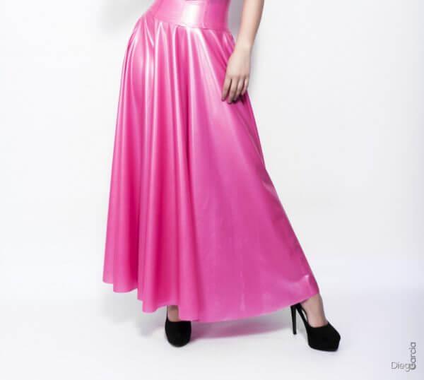 Latex Rubber Long Circle Skirt
