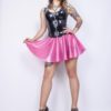 latex dotted skirt