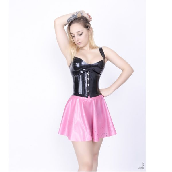 underbust latex corset