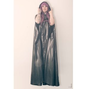 Latex long cape