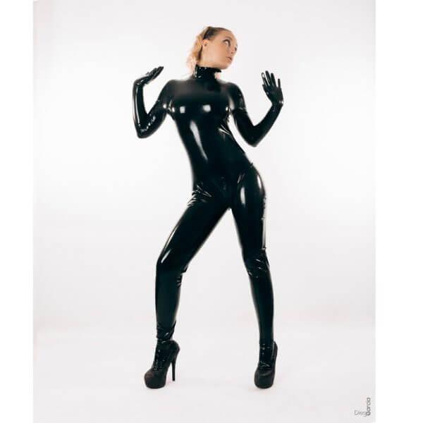 rubber catsuit