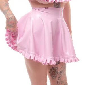 latex frilly skirt