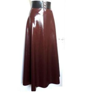 chocolate latex skirt