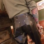 latex cargo pants